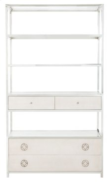 Criteria Metal Bookcase in Criteria Pale Ivory (363)