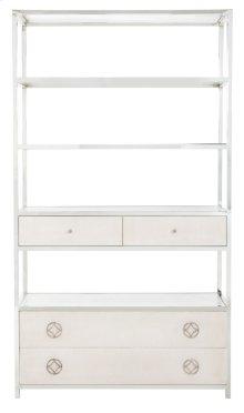 Criteria Metal Bookcase in Criteria Pale Ivory (363)