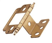 Non Self-closing, Partial Wrap 3/4in(19mm) Door Thick. Hinge