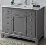 "Smithfield 42"" Vanity - Medium Gray Product Image"