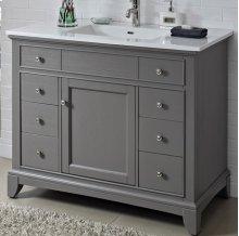 """Smithfield 42"""" Vanity - Medium Gray"""
