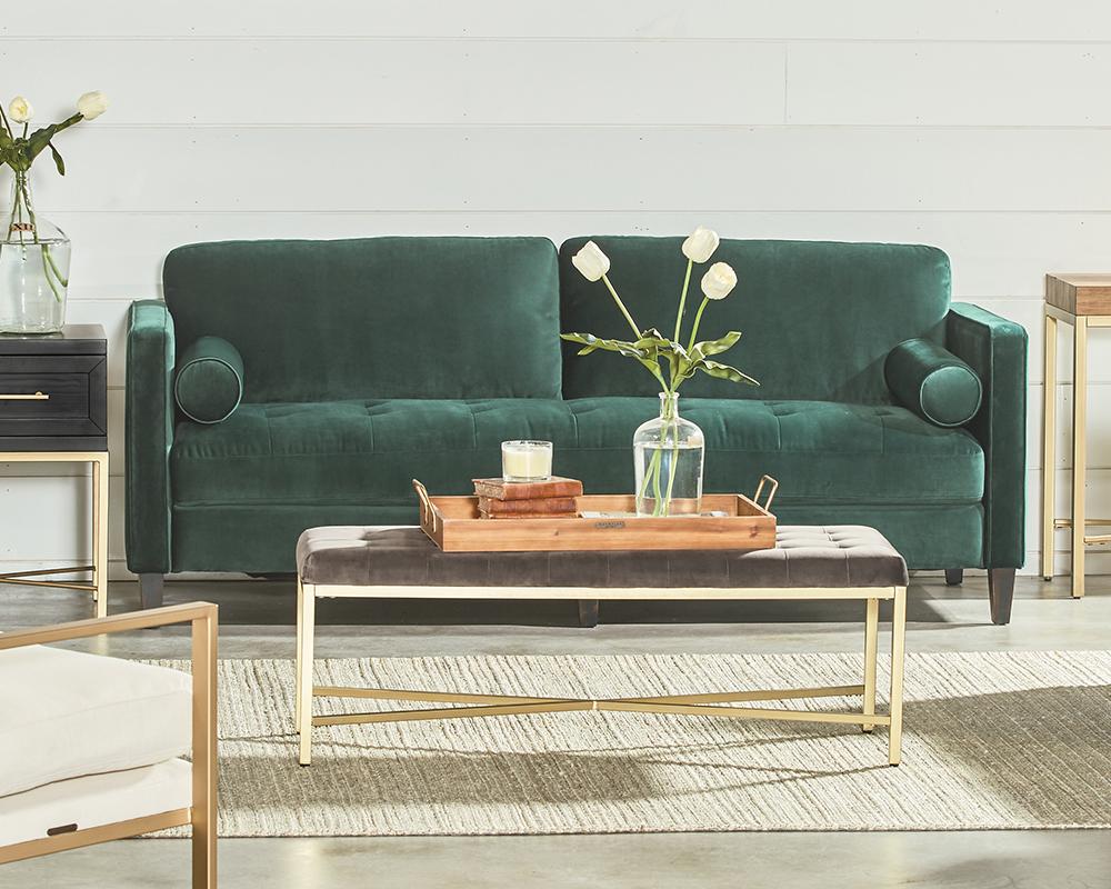 Amazing Emerald Dapper Sofa