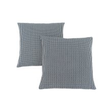 "PILLOW - 18""X 18"" / LIGHT / DARK BLUE ABSTRACT DOT / 2PCS"