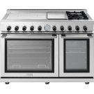 "Range NEXT 48"" Panorama Stainless steel 4 induction, griddle, 2 gas and 2 gas ovens Product Image"