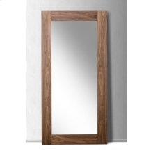 Modrest Beth Modern Walnut Floor Mirror