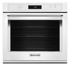 "27"" Single Wall Oven with Even-Heat True Convection - White"