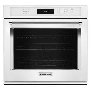 "KitchenAid27"" Single Wall Oven with Even-Heat True Convection - White"