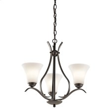 Keiran Collection Keiran 3 light Chandelier OZ