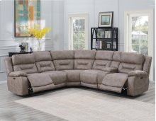 Aria RAF LS,DesertSand,Console, 2 Pwr-Pwr Recliners 75x44x42.5
