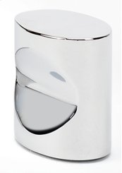 Contemporary III Oval Knob A250-34 - Polished Chrome