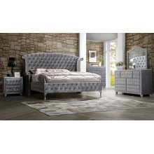 Deanna Bedroom Traditional Metallic Eastern King Bed