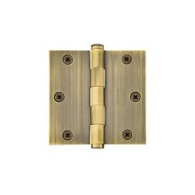 "3-1/2""x 3-1/2"" Square Corners Residential Plain Bearing, Solid Brass"