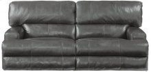 CATNAPPER 64581 Wembley Top Grain Leather Touch Power Headrest Power Lay Flat Reclining Sofa