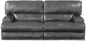 CATNAPPER 64581 Wembley Top Grain Leather Touch Power Headrest Power Lay Flat Reclining Sofa