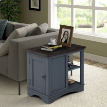 Americana Modern Denim Chairside Table