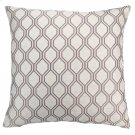 Andante Contemporary Decorative Feather and Down Throw Pillow In Birch Jacquard Fabric Product Image
