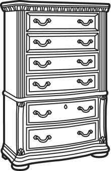 Cordoba Antiguo Blanco Drawer Chest