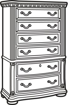 Cordoba Antiguo Blanco Drawer Chest