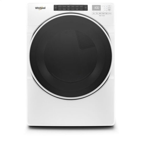Whirlpool® 7.4 cu.ft Front Load Gas Dryer with Intiutitive Touch Controls, Wrinkle Shield™ Plus Option with Steam - White