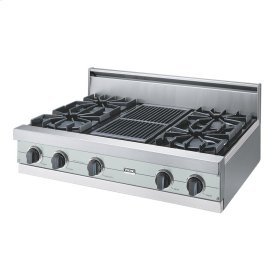 "Sea Glass 36"" Open Burner Rangetop - VGRT (36"" wide, four burners 12"" wide char-grill)"