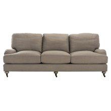 Calvin Brown Linen Sofa - Loft Grey
