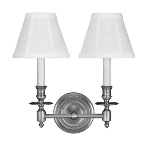 Visual Comfort S2112BZ-L Studio French Library 2 Light 13 inch Bronze Decorative Wall Light in Linen
