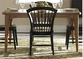 223-T4078  Rectangular Leg Table and 6 Chairs