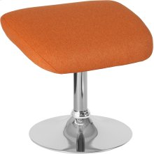 Egg Series Orange Fabric Ottoman