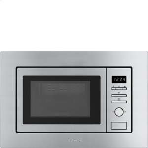 "Smeg60CM (Approx 24"") Built-in Microwave Fingerprint-Proof Stainless Steel"