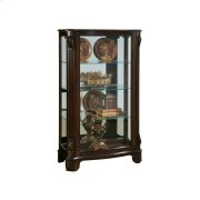 Distinguished Carved 3 Shelf Curio Cabinet in Cherry Brown Product Image
