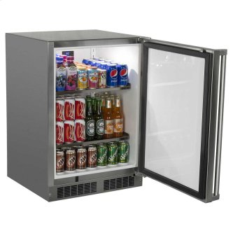 24-In Outdoor Built-In All Refrigerator with Door Swing - Right
