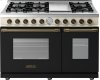 Range DECO 48'' Classic Black dual color, Bronze 6 gas, griddle and 2 gas ovens