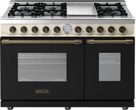 Range DECO 48'' Classic Black dual color, Bronze 6 gas, griddle and 2 gas ovens