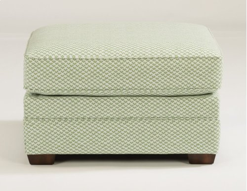 Whitney Fabric Ottoman without Nailhead Trim