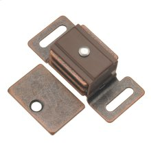 1-7/8 In. Statuary Bronze Double Magnetic Catch