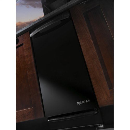 "Jenn-Air® Panel-Ready 15 "" Trash Compactor - Black Console/Reversible Panel"