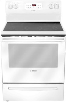 "30"" Electric Freestanding Range 300 Series - White"