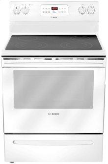"30"" Electric Freestanding Range 300 Series - White"