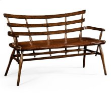 Oak Bench for Studded Leather Seat