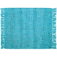 "Throw T1123 Turquoise 50"" X 60"" Throw Blankets Product Image"