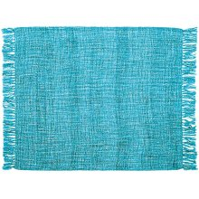 "Throw T1123 Turquoise 50"" X 60"" Throw Blanket"