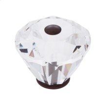 Old World Bronze 40 mm Diamond Cut Knob