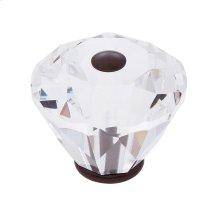 Old World Bronze 40 mm Diamond Cut Knob