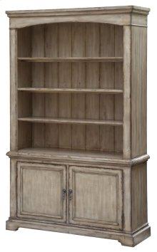 Brookhaven 2 Door / 3 Shelf Distressed Parchment Bookcase