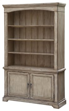 Brookhaven 2 Door / 3 Shelf Distressed Parchment Bookcase