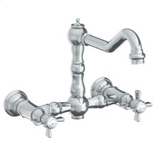 Wall Mounted Bridge Kitchen Faucet
