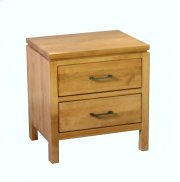 Alder 2 Drawer Nightstand Product Image