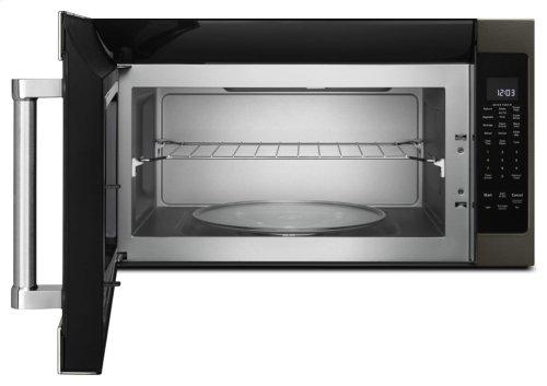 "1000-Watt Microwave with 7 Sensor Functions - 30"" - Black Stainless"