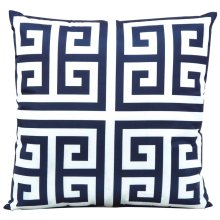 "Outdoor Pillow As047 Navy 20"" X 20"" Throw Pillow"