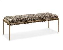 Metal Gold Upholstered Bench